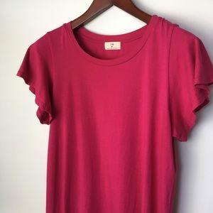T.La Bright Pink Tee Shirt Dress